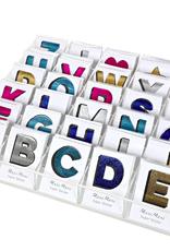 meri meri faux leather letter sticker