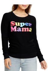 chaser super mama cozy knit raglan