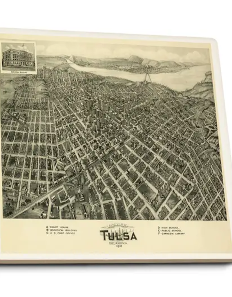 lantern press tulsa panoramic map coasters (1918)