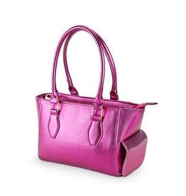 Blush mini insulated wine purse metallic hot pink