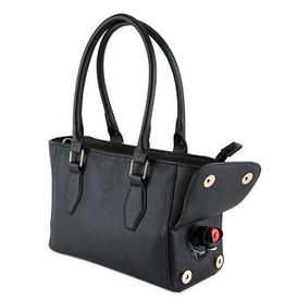 Blush mini insulated wine purse black
