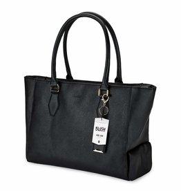 Blush insulated wine purse black