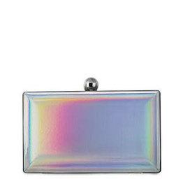 Blush iridescent incognito clutch flask