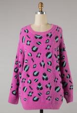 chunky knit leopard sweater
