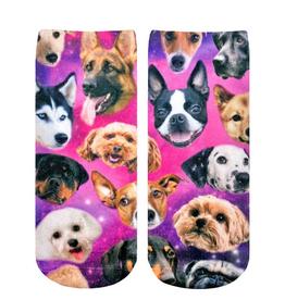 galaxy puppy ankle socks
