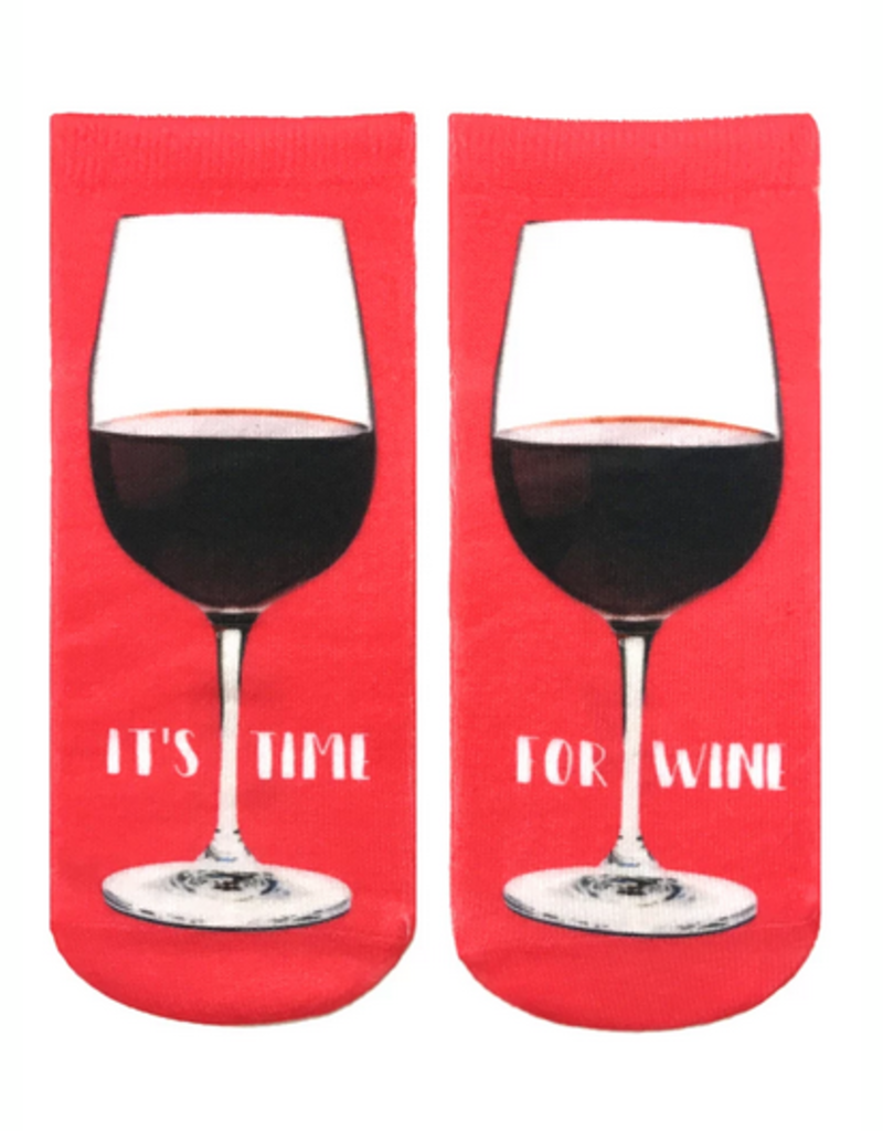 its time for wine ankle socks