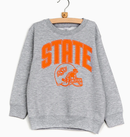 LivyLu kids osu state helmet sweatshirt FINAL SALE