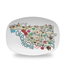 oklahoma map platter