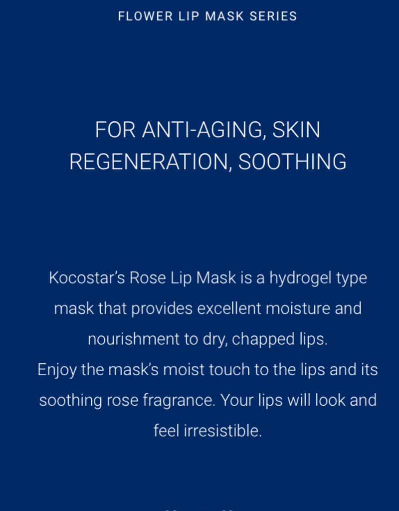 kocostar rose lip mask pack