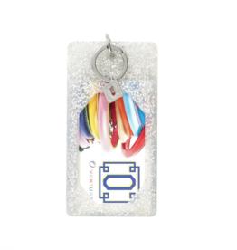 o venture silver confetti silicone id case