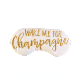 wake me for champagne sleep mask