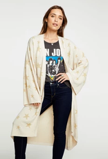 chaser star intarsia open front duster