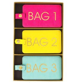 luggage tag set of 3 brights