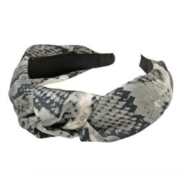 silk snakeskin print headband