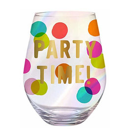 party time 30oz stemless wine glass