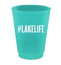 #lakelife 8ct 16oz cup set