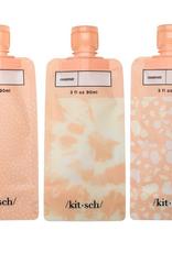 refillable travel pouches 3 piece set