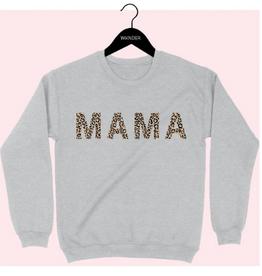 wknder leopard mama sweatshirt