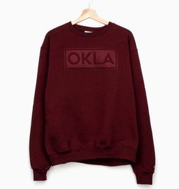 LivyLu okla embossed champion sweatshirt