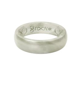 groove life thin metallic silicone ring