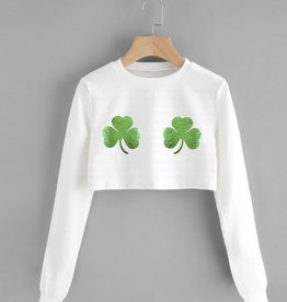 R+R FINAL SALE shake your shamrocks crop sweatshirt