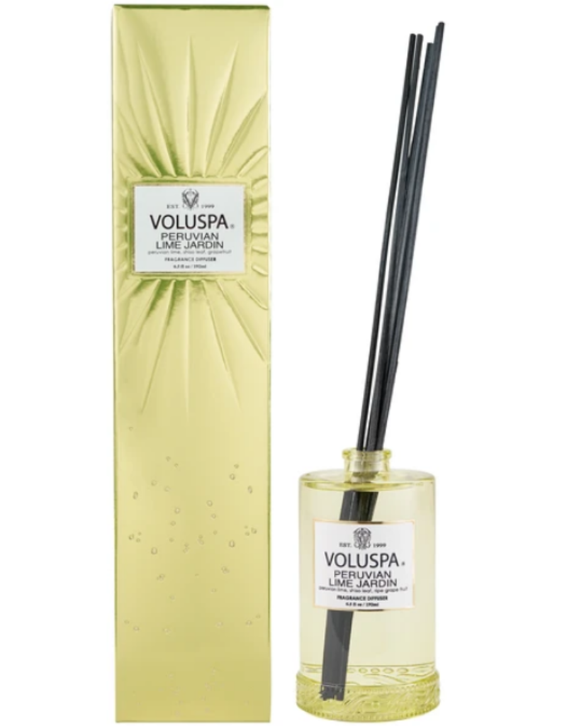 voluspa peruvian lime fragrance diffuser 6.5oz