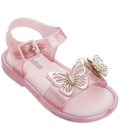 mini melissa mar sandal fly baby pink