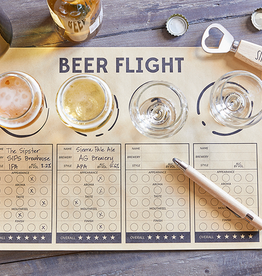 santa barbara designs beer flights placemat (set of 24)