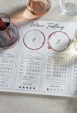 santa barbara designs wine tasting placemat (set of 24)