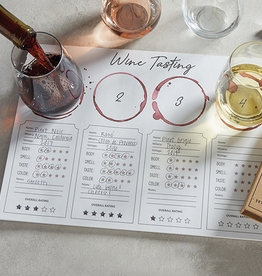 santa barbara designs wine tasting placemat (set of 24)