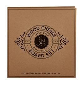 santa barbara designs wood cheese board set