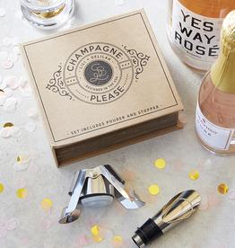 santa barbara designs cardboard book champagne set