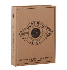 santa barbara designs cardboard book wine set