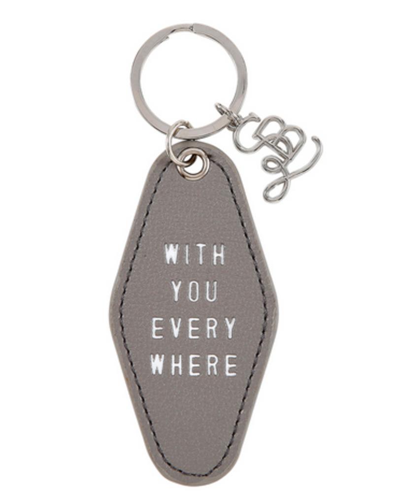 santa barbara designs leather motel keychain