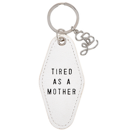 santa barbara designs leather motel keychain