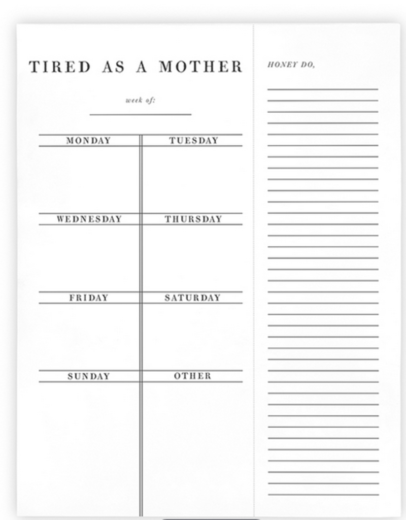 santa barbara designs tired as a mother to-do list
