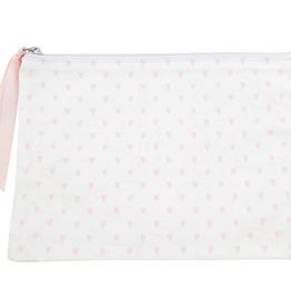 santa barbara designs hearts canvas zip pouch