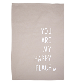 santa barbara designs happy place tea towel
