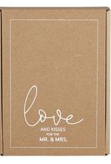 santa barbara designs love and kisses tea towel