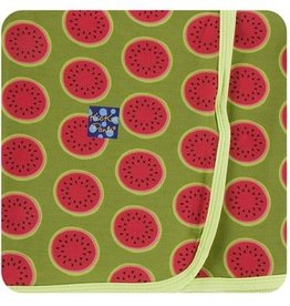 kickee pants grasshopper watermelon swaddling blanket