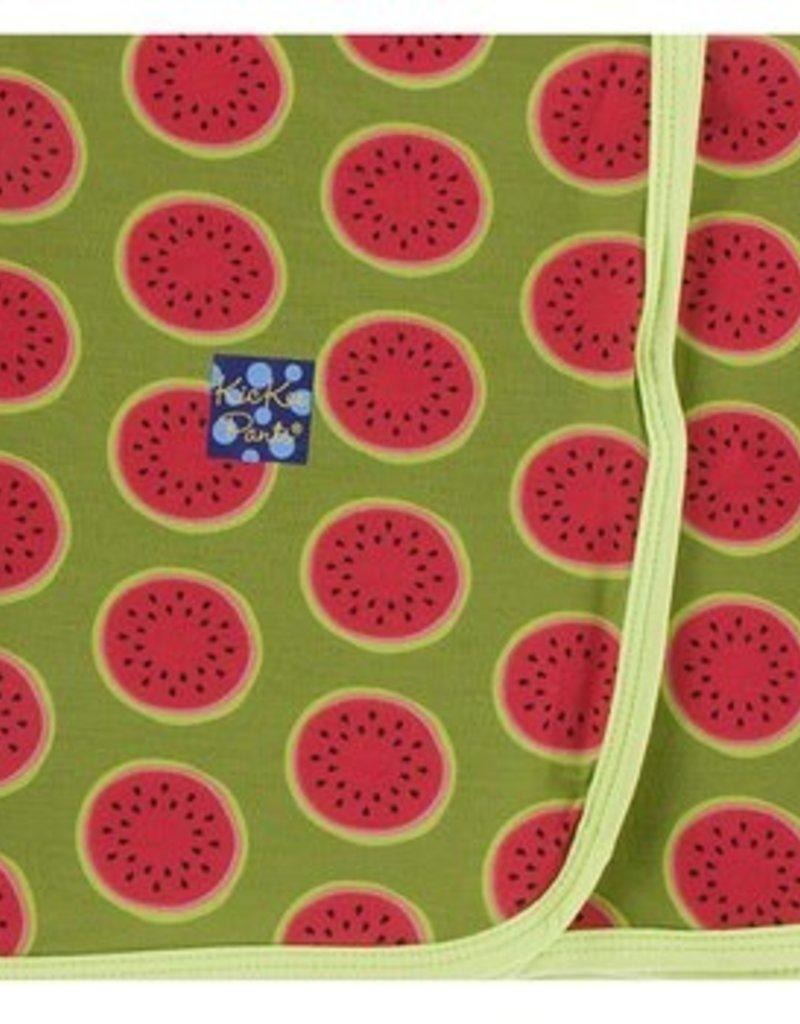 kickee pants grasshopper watermelon swaddling blanket