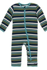kickee pants grasshopper stripe coverall with zipper