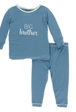 kickee pants blue moon big brother long sleeve pajama set