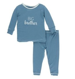 kickee pants blue moon big brother long sleeve pajama set