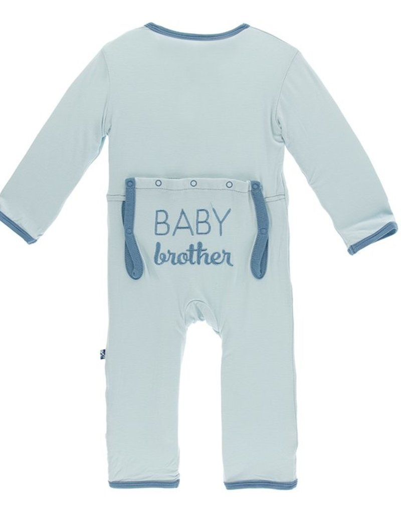 kickee pants layette applique coverall