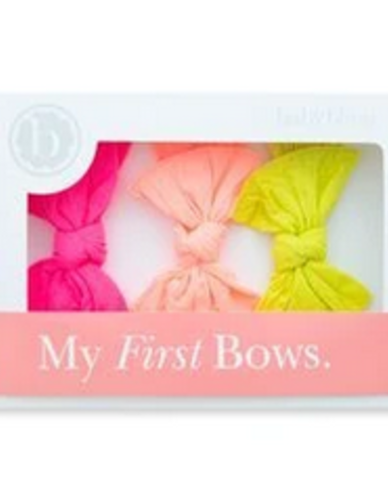 Baby Bling 3 piece box knot set neons