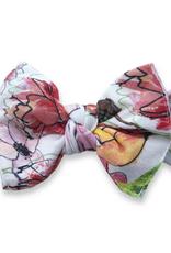 Baby Bling springtime sketch printed knot