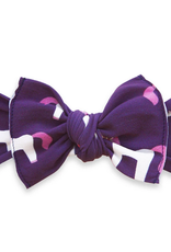 Baby Bling plum unicorn printed knot