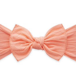 Baby Bling neon coral knot