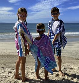kids hooded beach towel